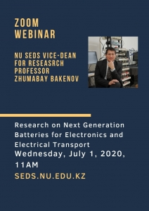 "Free webinar ""Research on Next Generation Batteries for Electronics and Electrical Transport"" @ Online webinar"
