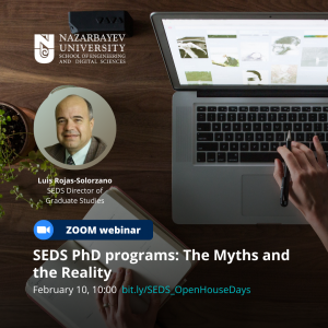 SEDS PhD programs: The Myths and the Reality - SEDS Departments Virtual Open House Days