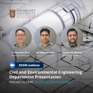 Civil and Environmental Engineering Department Presentation - SEDS Departments Virtual Open House Days